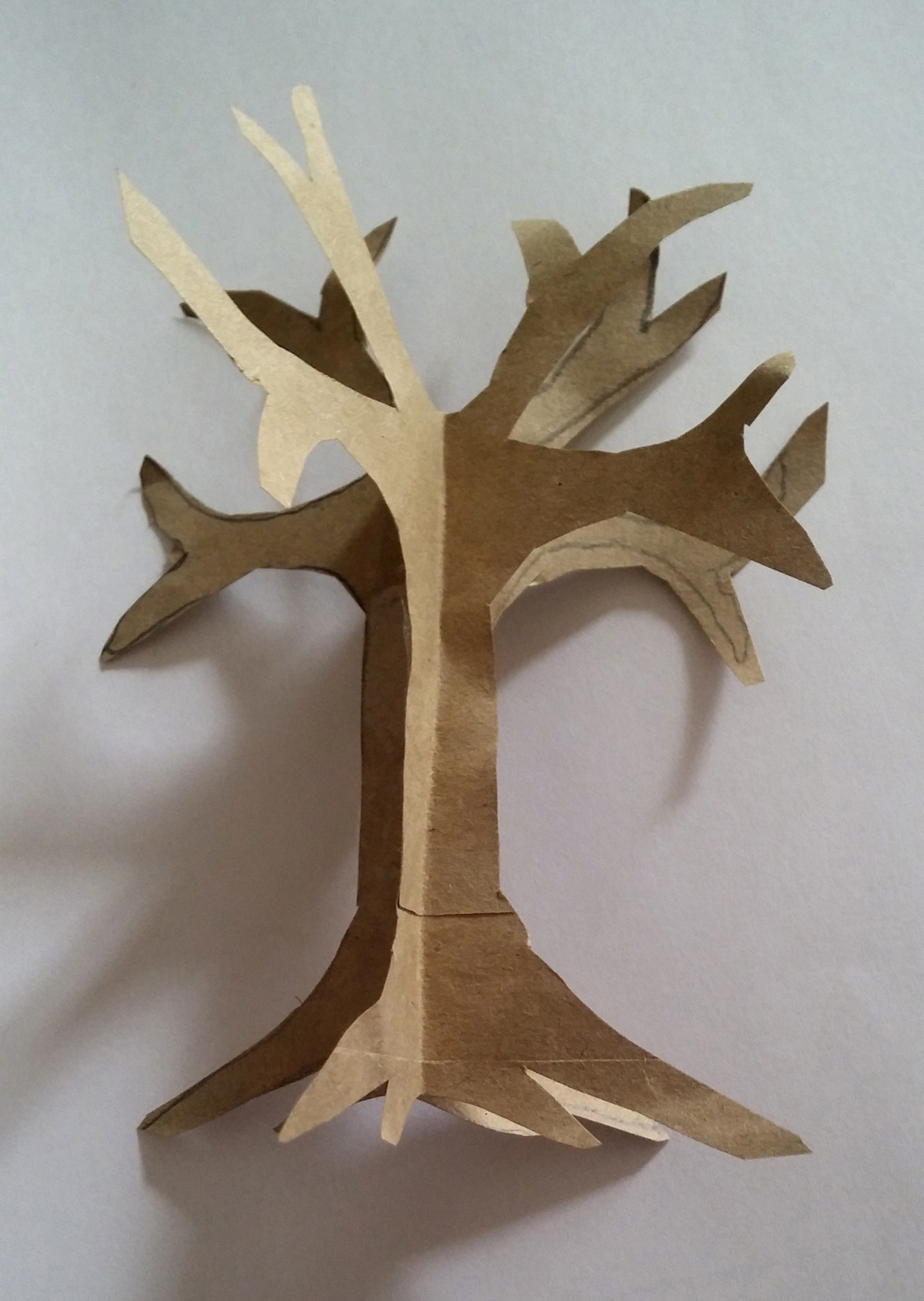 how to make an easy paper craft tree imagine forest. Black Bedroom Furniture Sets. Home Design Ideas