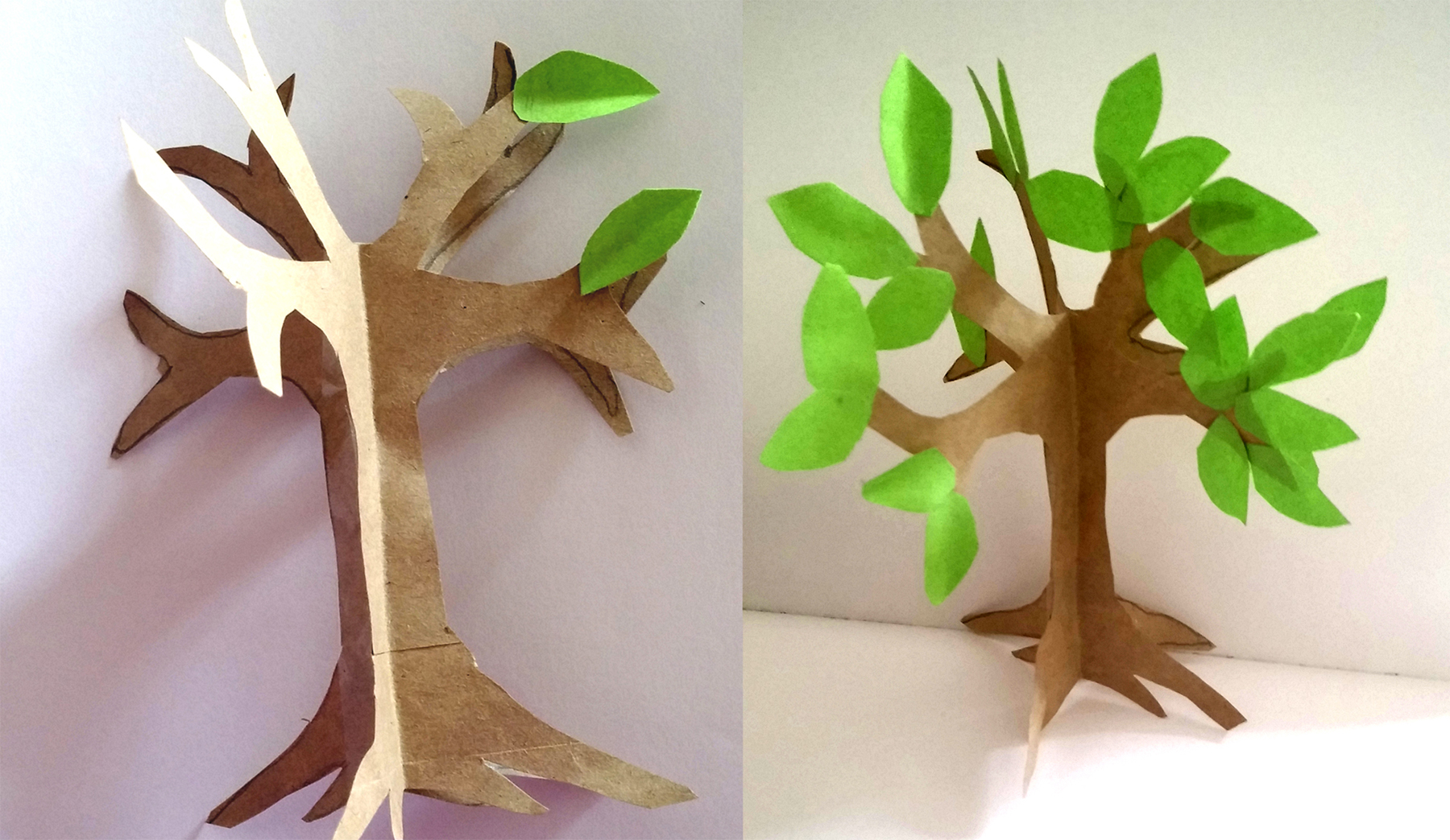 Easy origami fox tutorial imagine forest how to make an easy paper craft tree jeuxipadfo Gallery