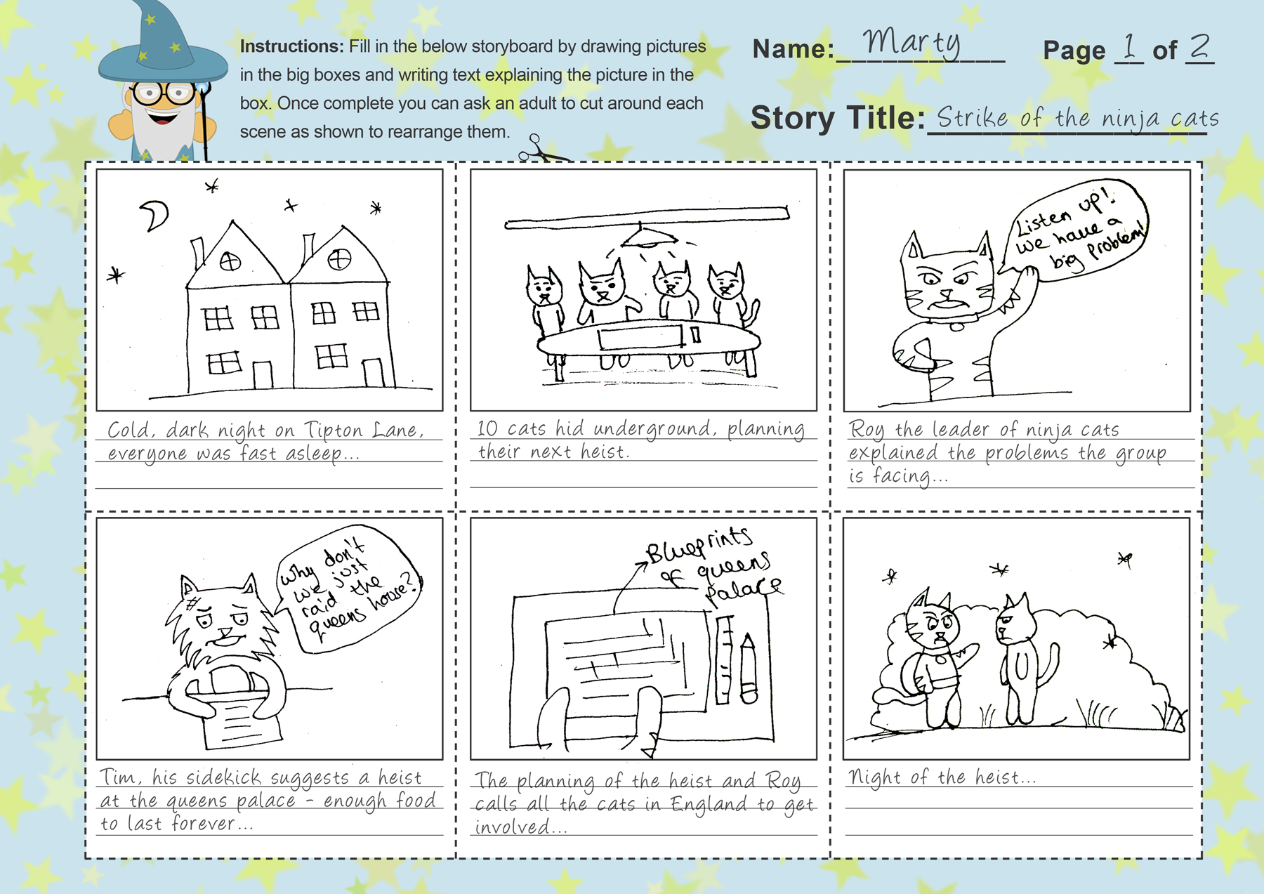 Imagine forest free storyboard template for kids storyboard template completed saigontimesfo