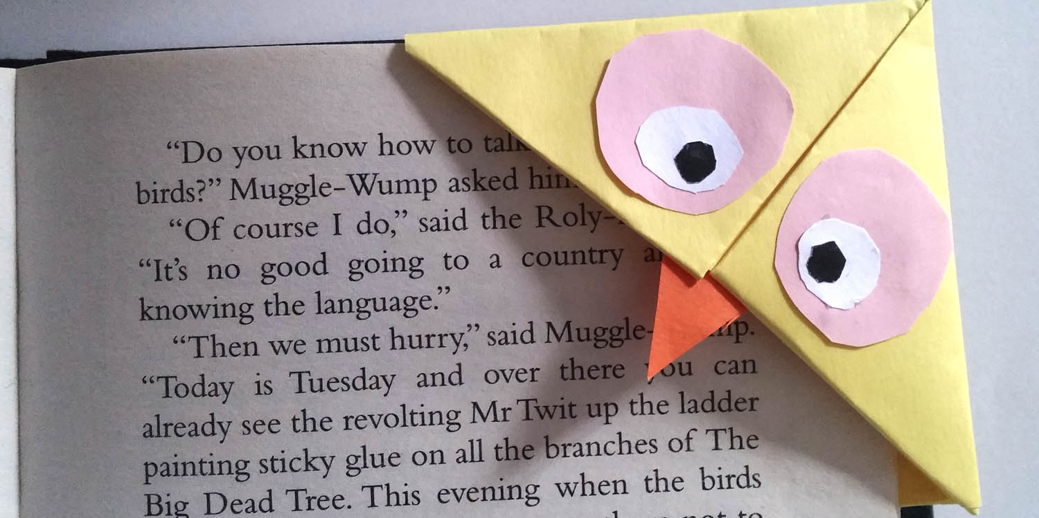 How to make an Easy Paper Owl Bookmark