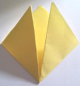 Paper owl Bookmark step_2