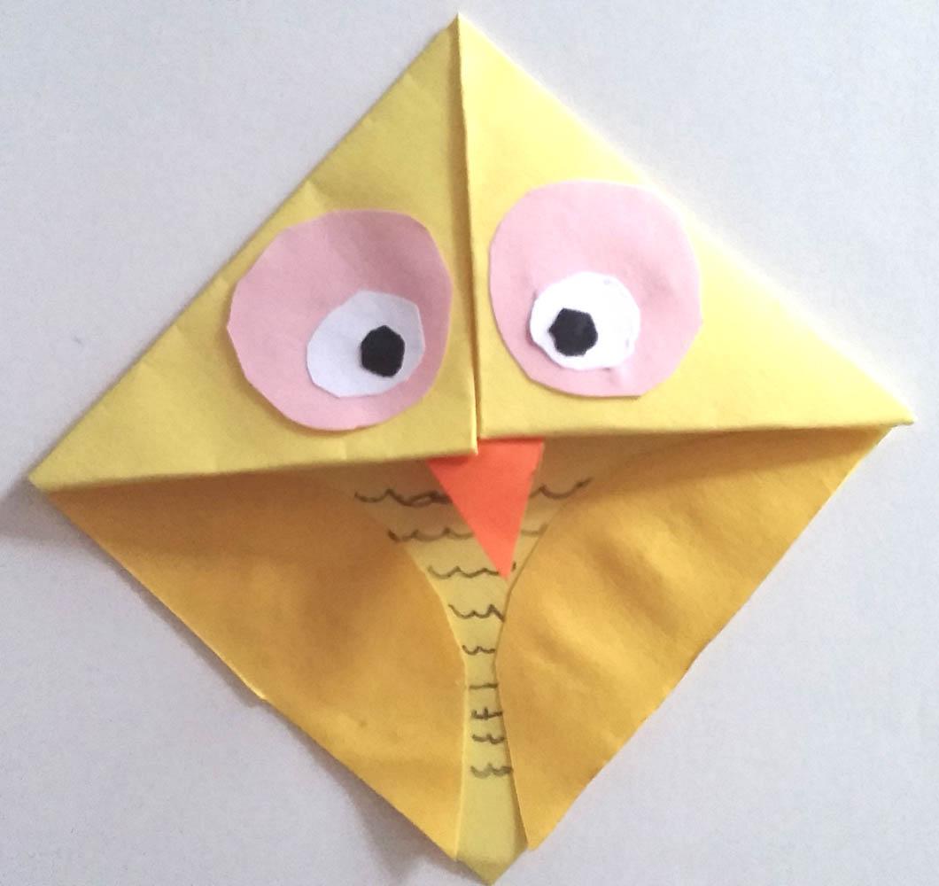 Paper Owl Bookmark Step 5