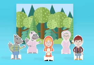 paper finger puppets_red riding hood_mockup_ imagine forest