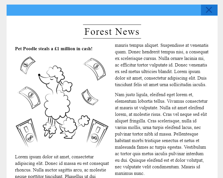 imagine forest newspaper writing activity