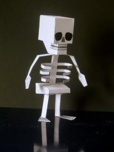 Paper craft Skeleton - Kids Halloween Craft Ideas