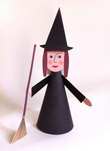Paper craft Witch - Kids Halloween craft ideas