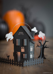 Paper Haunted Mansion Kids Halloween Craft Ideas