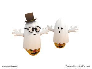 halloween_ghost_paper craft_kids Halloween craft ideas