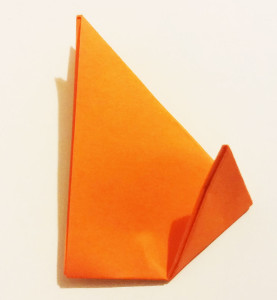 Easy origami fox tutorial -6