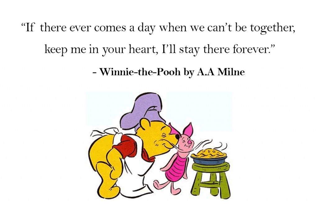 Winnie the Pooh cant be together quote