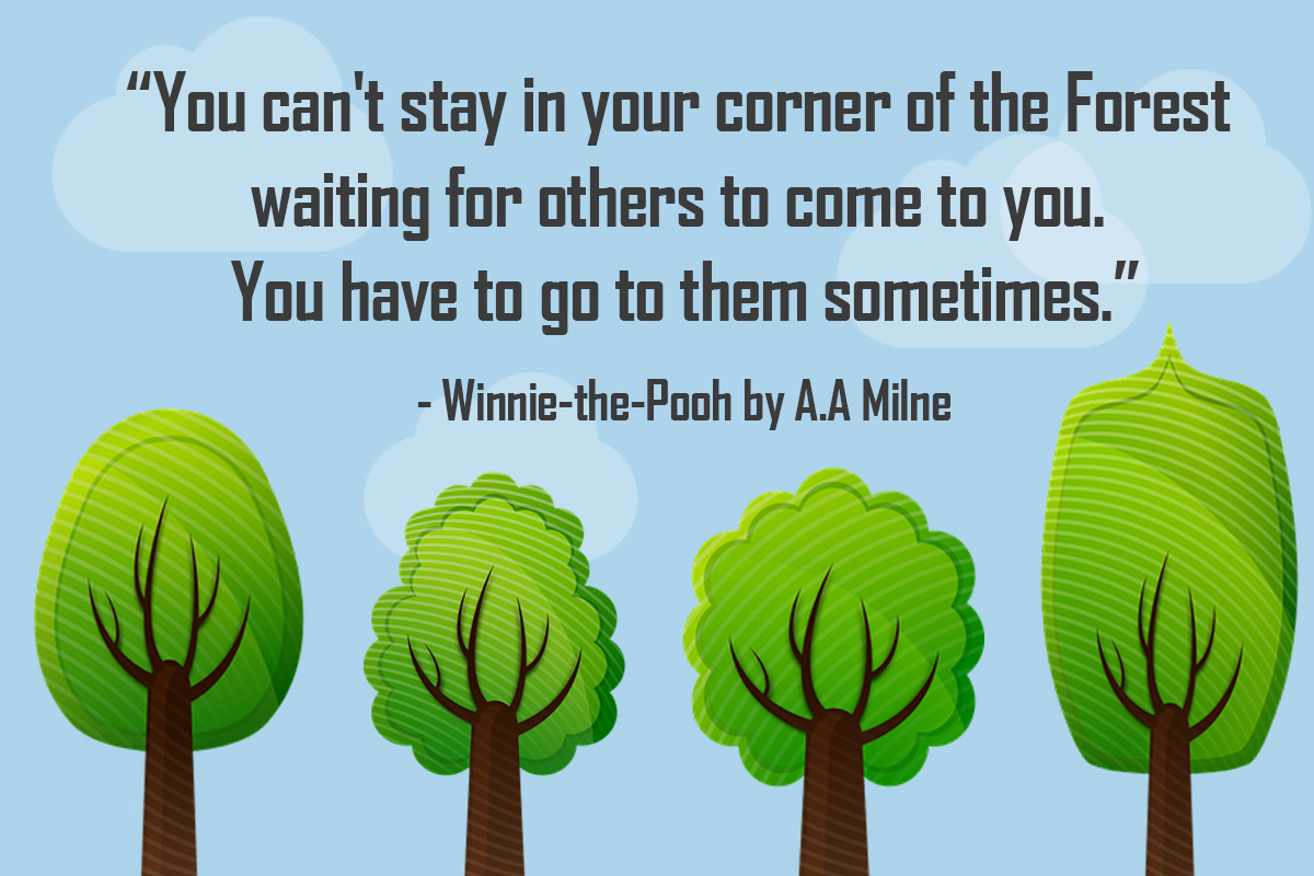 Winnie the Pooh forest quote