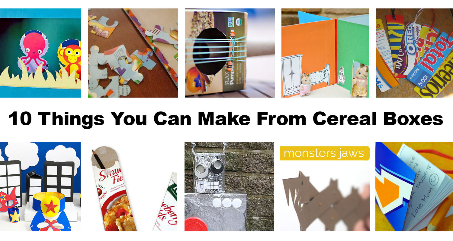 10 things you can make from cereal boxes for kids