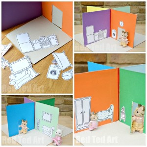 Cereal box dollhouse for kids