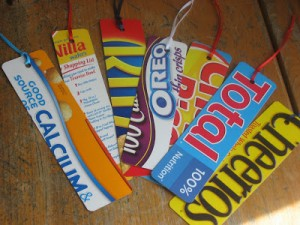 cereal box bookmarks for kids