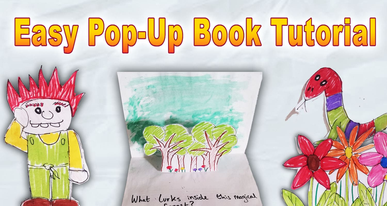 Easy pop up book tutorial with images imagine forest for Pop up storybook template