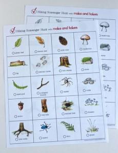 Outdoor kids summer activities - Scavenger hunt- Imagine-Forest