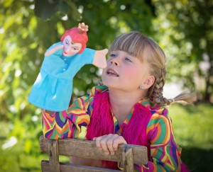 Outdoor kids summer activities-role play-imagine-forest