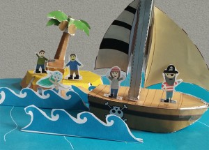 Paper Craft Pirate Story Pack - final - Imagine Forest
