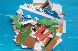 Paper Craft Pirate Story Pack -step 2-Imagine Forest