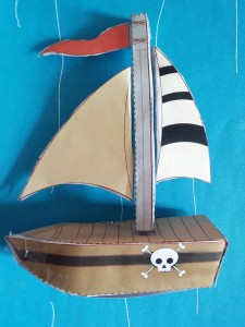 Paper Craft Pirate Story Pack - step 5-Imagine Forest