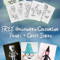 FREE Halloween Colouring Pages - imagine forest