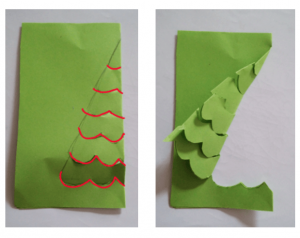 step 2 - 3d christmas card tutorial for kids - Imagine Forest