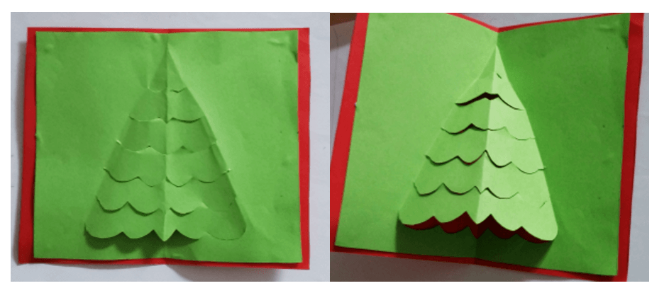Pop-Up Christmas Tree Card Tutorial For Kids