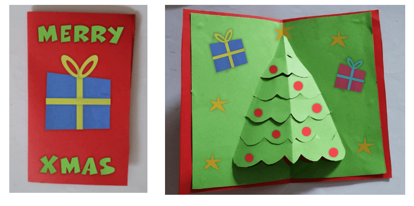Pop-Up Christmas Tree Card Tutorial for Kids - Imagine Forest