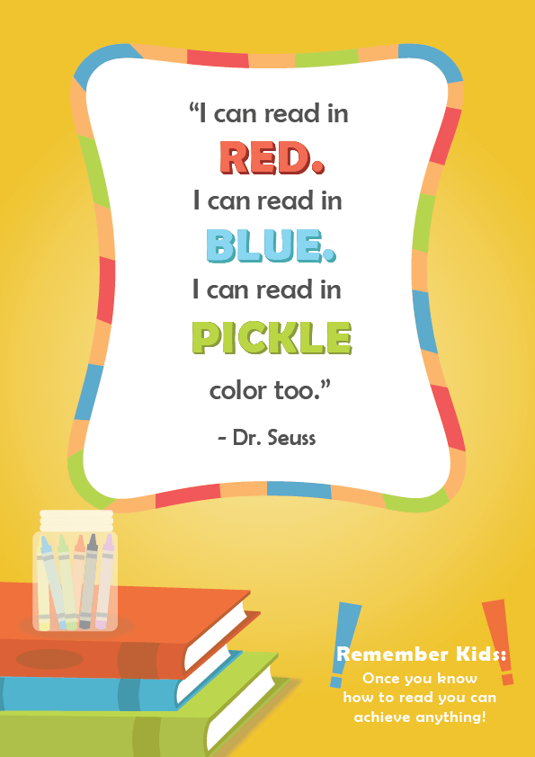 Dr. Seuss Quotes About Reading _ I Can Read In Red _ Imagine Forest