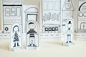 Story-telling Activities for Kids on story-telling day_paper dolls in paper city_imagine forest