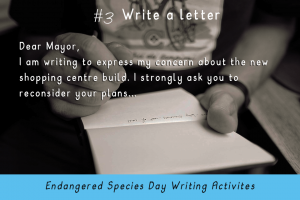 Writing Activities for Endangered Species Day _write a letter_Imagine Forest