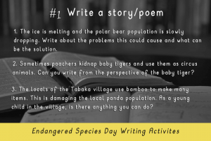 Writing Activities for Endangered Species Day _write a story_Imagine Forest