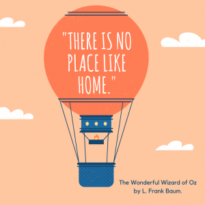 12 Wonderful Quotes from the Wizard of Oz _There is no place like home book quote.