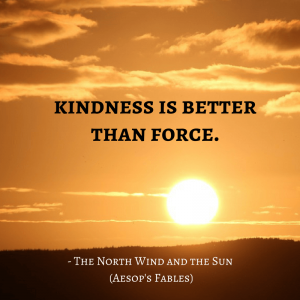 Life Lessons From Aesop's Fables _ the wind and the sun quotes