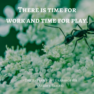 Life Lessons From Aesop's Fables_the ants and the grasshopper_quotes