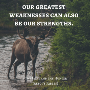 Life Lessons From Aesop's Fables _the hart and the hunter quotes