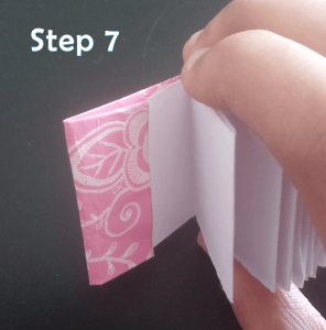 step 7_How to Make a Mini Paper Notebook Tutorial