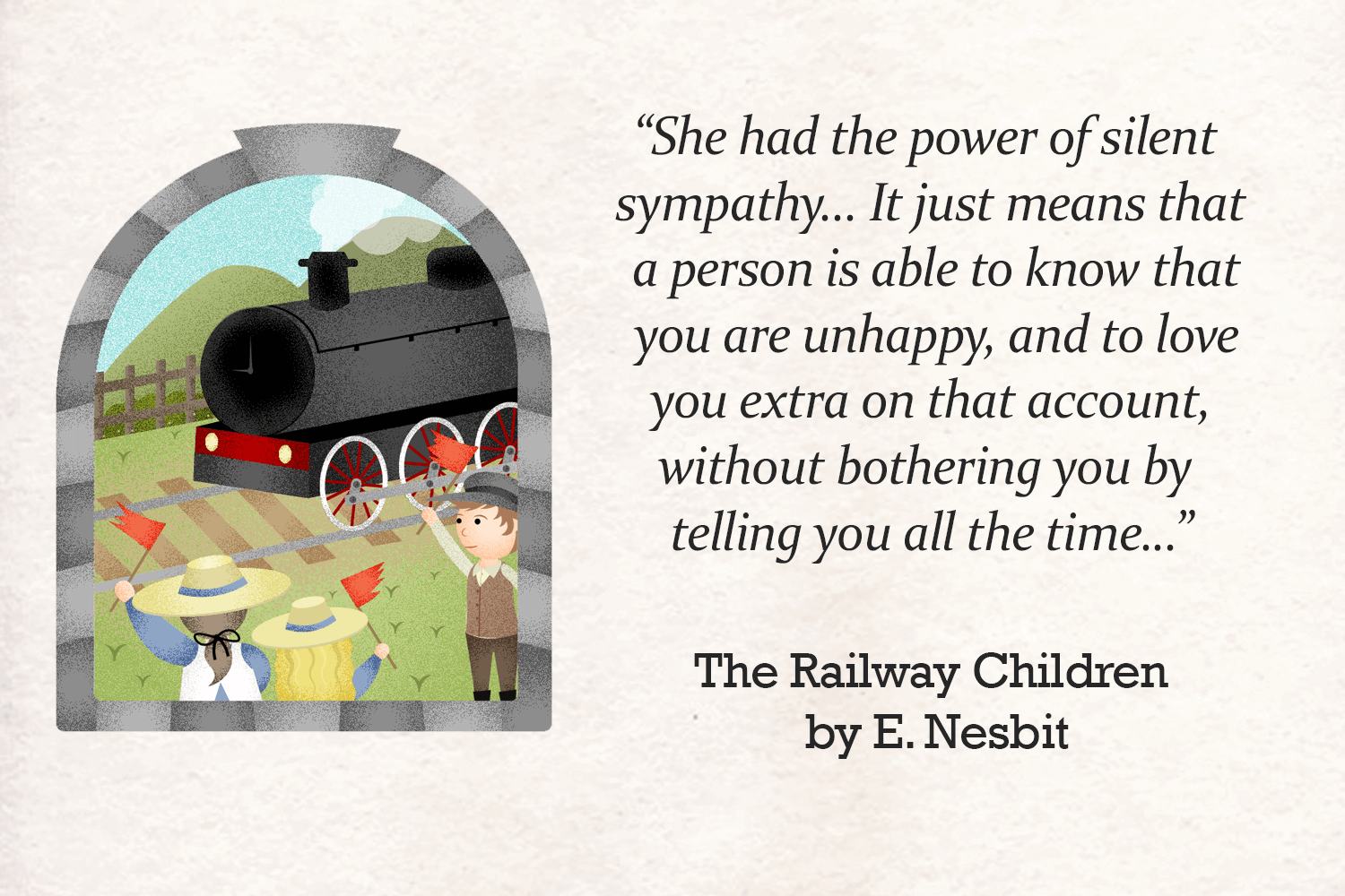 Inspirational Quotes About Loving Children Inspirational Quotes From The Railway Children  Imagine Forest