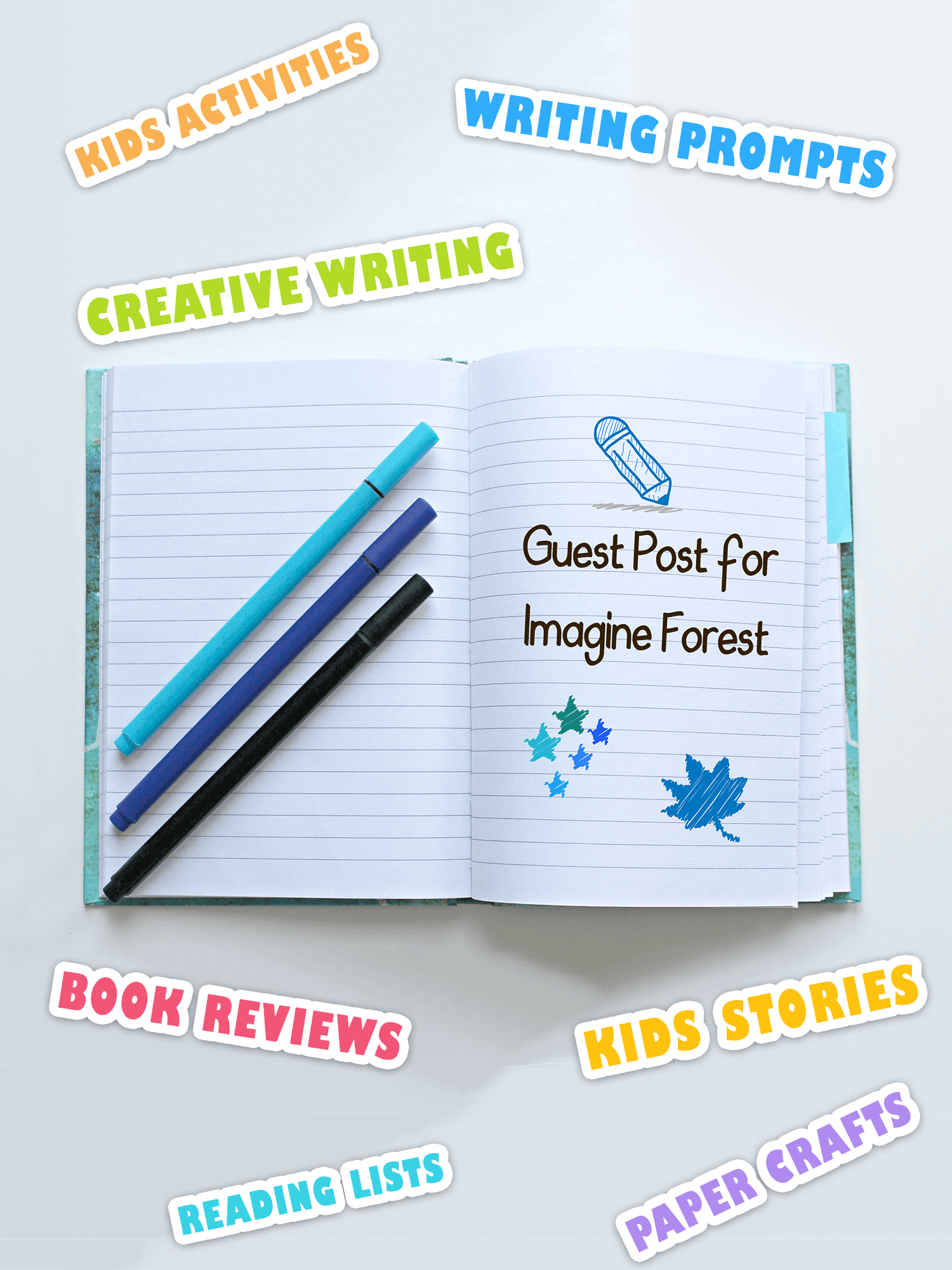 submit a guest post for a kids blog _ imagine forest