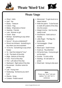 pirate word list and lingo for kids _imagine forest