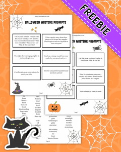 12 Halloween Writing Prompts for kids (+ Free Printable) - Imagine ...