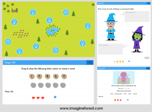 Fun Writing Games for kids _ imagine forest