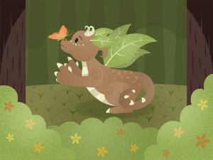 Leaf dragon in a forest dragon master short story _ Imagine Forest