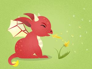 sneezing red dragon dragon master short story _ Imagine Forest