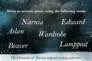 writing Activities Inspired by the Chronicles of Narnia acrostic poem _imagine forest