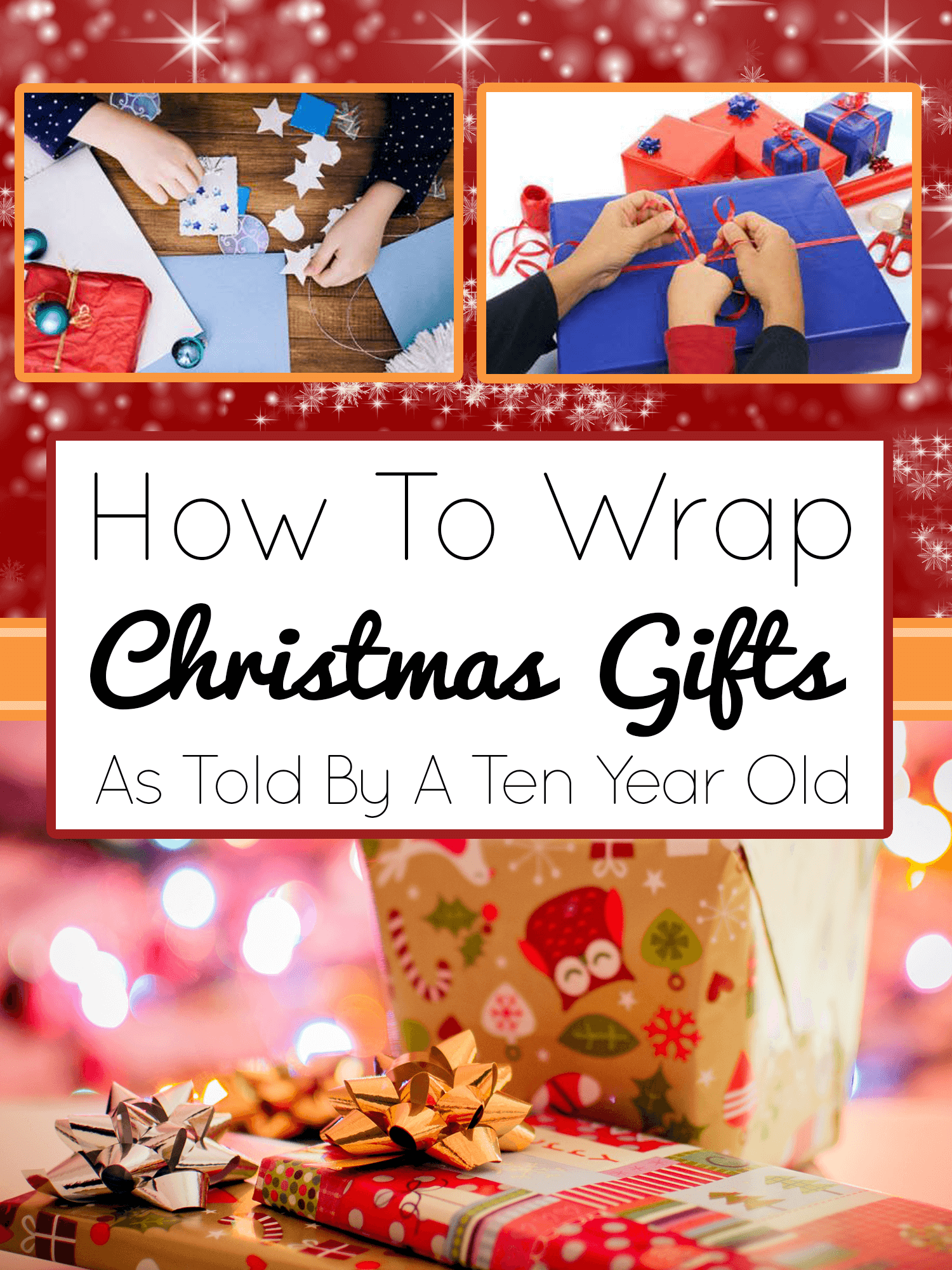 How To Wrap Christmas Gifts | Imagine Forest