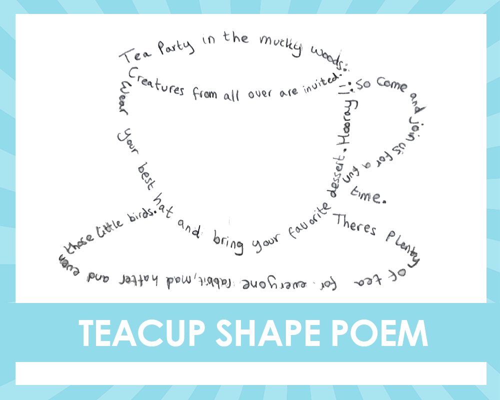 Alice In The Wonderland Shape Poetry Activity