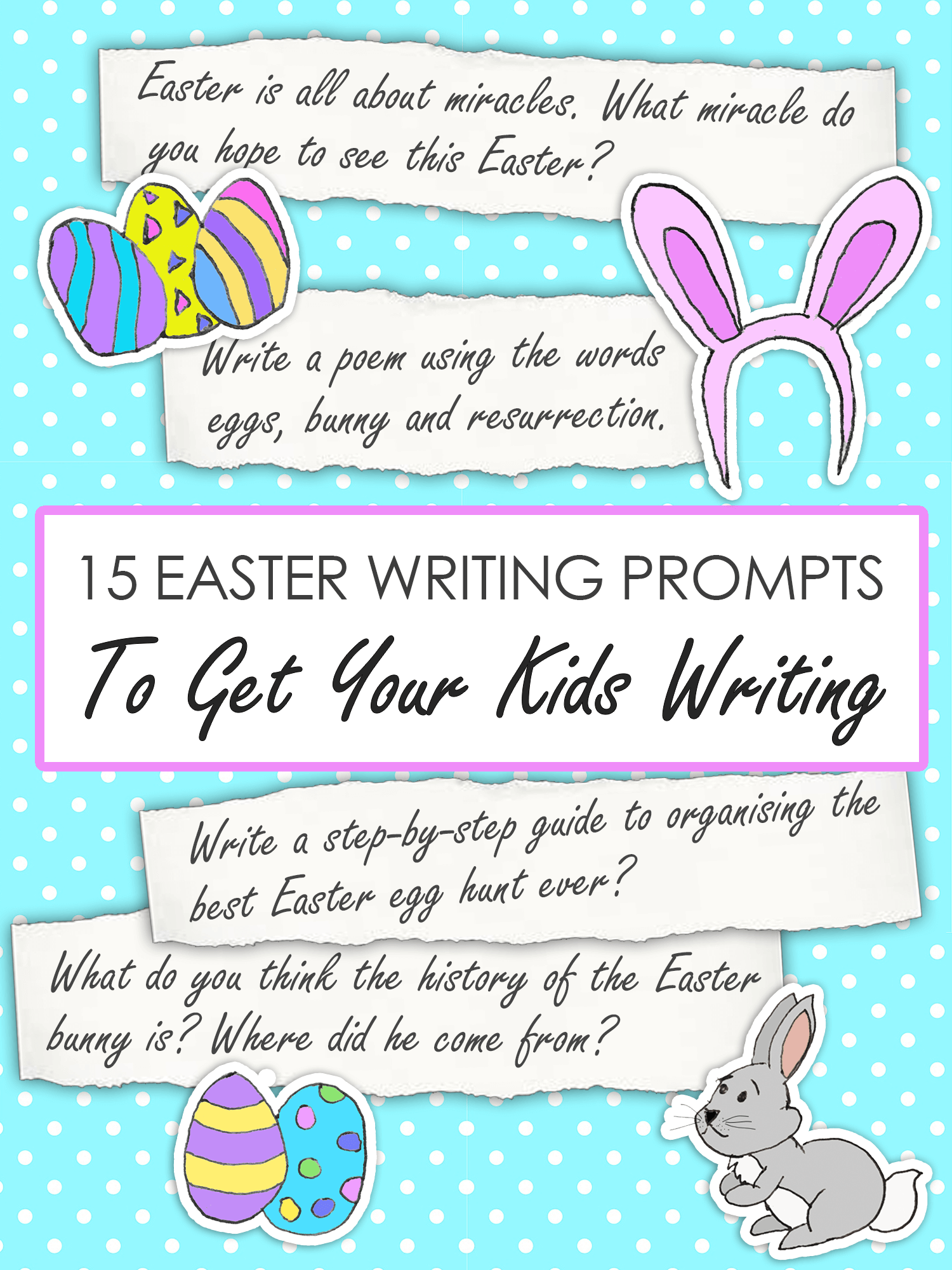 15 Easter Writing Prompts to Get Your Kids Writing imagine forest
