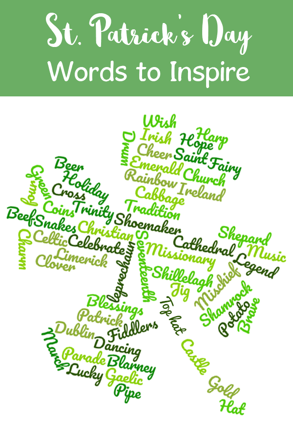 st. patricks day words - word cloud for kids