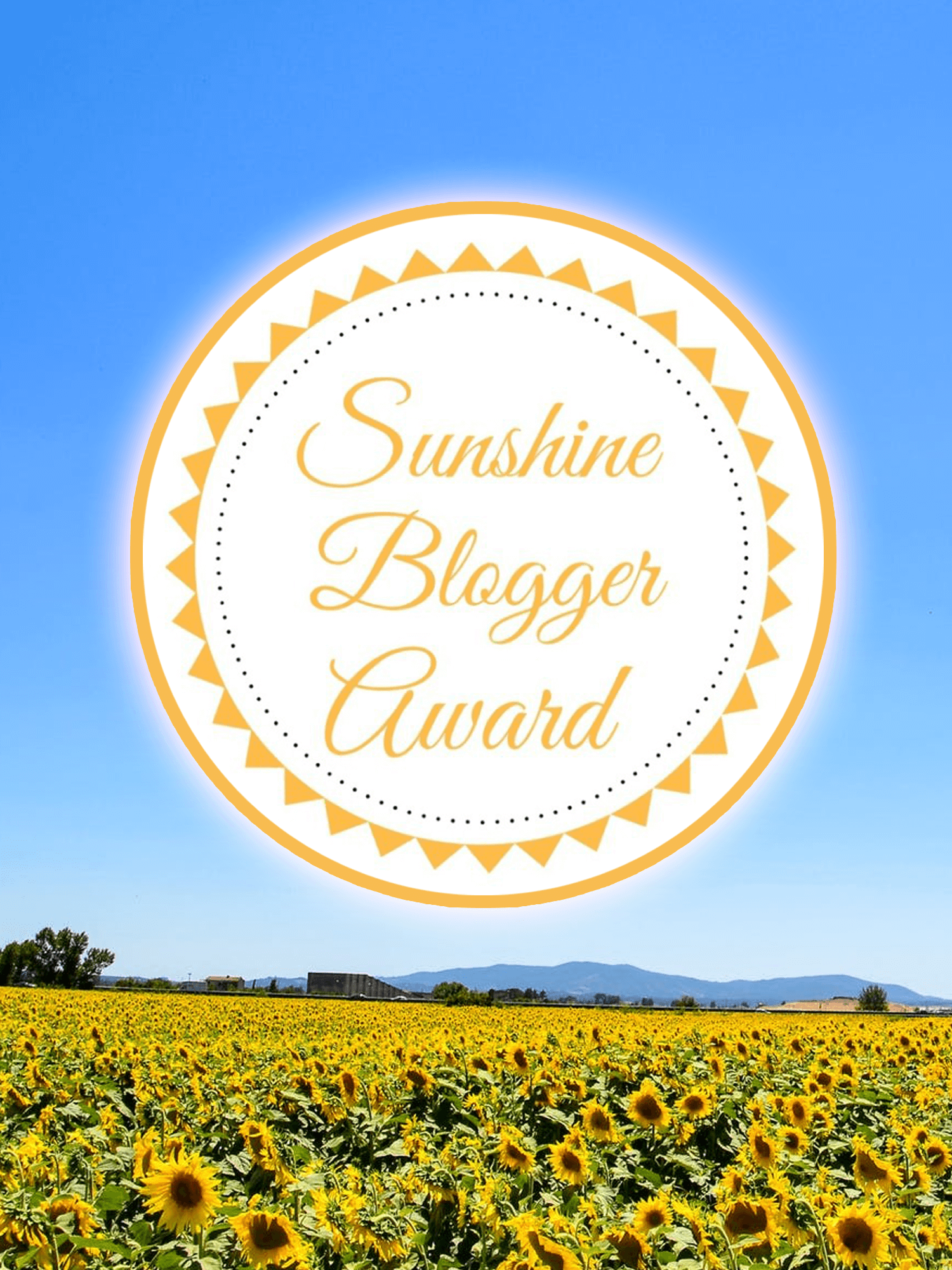 sunshine blogger award - imagine forest